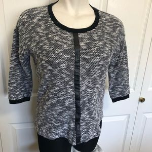 Two by Vince Camuto 3/4 sleeve marled sweater sz.M